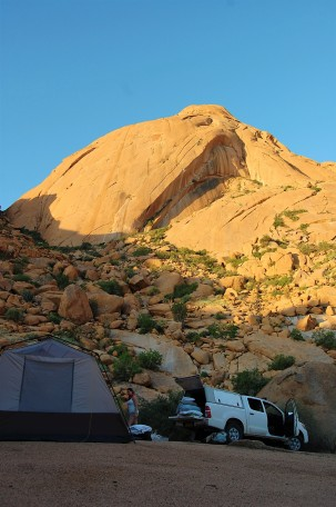 Our campsite at the Spitzkoppe