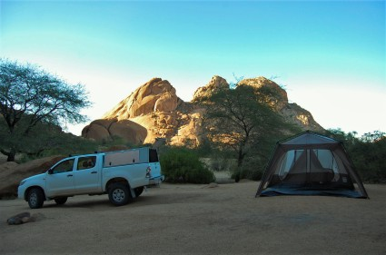Our campsite at Spitzkoppe