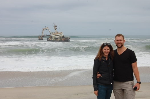 Carrie and john at Zeila shipwreck