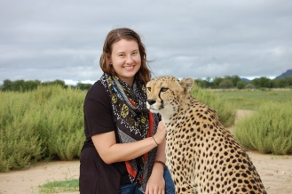 Brittany and Kiki the cheetah