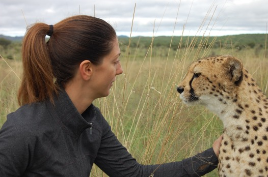Carrie and Kiki the Cheetah